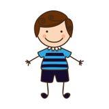 Счастливый значок шаржа мальчика бесплатная иллюстрация