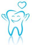 Счастливый зуб стоковое изображение rf
