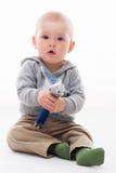Счастливый играть мальчика Стоковая Фотография RF