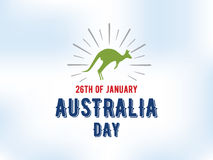 Счастливый дизайн вектора дня Австралии Стоковые Изображения RF