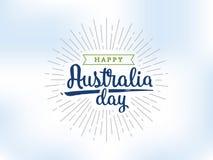 Счастливый дизайн вектора дня Австралии Стоковое фото RF