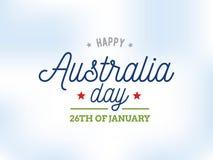 Счастливый дизайн вектора дня Австралии Стоковое Фото