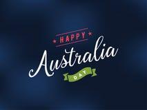 Счастливый дизайн вектора дня Австралии Стоковое Изображение RF