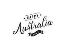 Счастливый дизайн вектора дня Австралии Стоковая Фотография