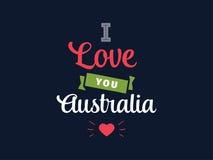 Счастливый дизайн вектора дня Австралии Стоковое Изображение