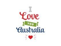 Счастливый дизайн вектора дня Австралии Стоковые Фотографии RF