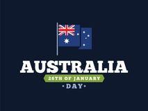Счастливый дизайн вектора дня Австралии Стоковые Изображения