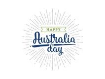 Счастливый дизайн вектора дня Австралии Стоковые Фото