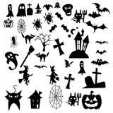 Счастливый дизайн вектора хеллоуина Стоковые Изображения RF