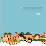 Счастливый дизайн детей. Стоковые Фотографии RF