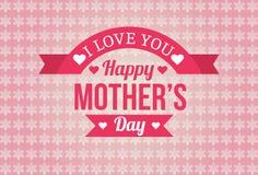 Счастливый дизайн значка дня матерей Стоковое Фото