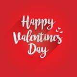 Счастливый дизайн литерности дня валентинок Стоковое Фото