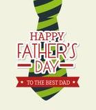 Счастливый дизайн карточки дня отцов Стоковая Фотография