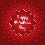Счастливый дизайн карточки дня ` s валентинки Стоковая Фотография