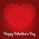 Счастливый дизайн карточки дня ` s валентинки Стоковые Фотографии RF