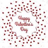 Счастливый дизайн карточки дня ` s валентинки Стоковые Изображения