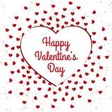 Счастливый дизайн карточки дня ` s валентинки Стоковое Фото