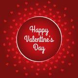 Счастливый дизайн карточки дня ` s валентинки Стоковые Фото