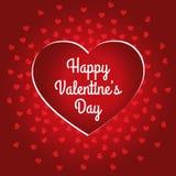 Счастливый дизайн карточки дня ` s валентинки Стоковое Изображение RF