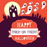 Счастливый дизайн карточки хеллоуина также вектор иллюстрации притяжки corel Стоковые Фото