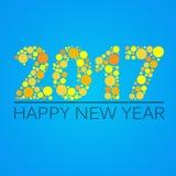 Счастливый дизайн Нового Года 2017 также вектор иллюстрации притяжки corel Стоковое Изображение RF