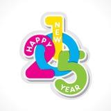 Счастливый дизайн Нового Года 2015 Стоковые Изображения