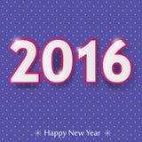 Счастливый дизайн Нового Года 2016 Стоковые Изображения