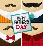 Счастливый дизайн дня отцов Стоковые Фото