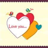 Счастливый дизайн поздравительной открытки торжества дня валентинки Стоковое фото RF