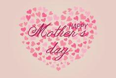 Счастливый дизайн предпосылки дня матерей Стоковые Изображения