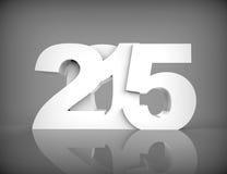 Счастливый дизайн текста Нового Года 2015 Стоковое Изображение