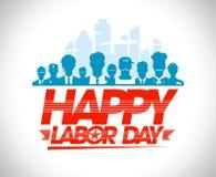 Счастливый дизайн Дня Трудаа с работниками Стоковые Фотографии RF