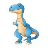 Счастливый динозавр шаржа иллюстрация вектора