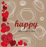 Счастливый идеал дня валентинок для поздравительной открытки или предпосылки Стоковое Фото