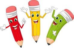 Счастливый карандаш шаржа Стоковое Изображение