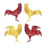 Счастливый китайский Новый Год 2017 год цыпленка Стоковые Изображения
