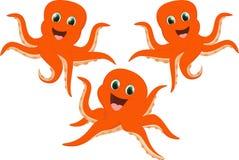 Счастливый комплект шаржа осьминога Стоковое Фото