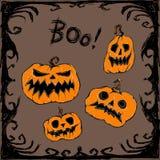 Счастливый комплект Halloween также вектор иллюстрации притяжки corel бесплатная иллюстрация