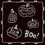 Счастливый комплект Halloween бесплатная иллюстрация