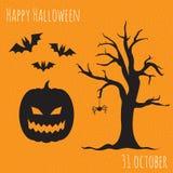 Счастливый комплект Halloween иллюстрация штока