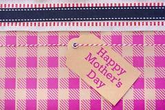 Счастливый конец подарка дня матерей вверх Стоковое фото RF