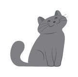 счастливый котенок Стоковое Изображение