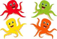 Счастливый красочный шарж осьминога Стоковые Фото