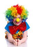 Счастливый клоун мальчика Стоковые Фотографии RF