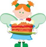 Счастливый маленький ангел Стоковое фото RF