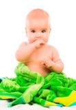 Счастливый маленький младенец Стоковые Изображения