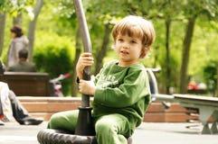 Счастливый маленький ребенок, играть ребёнка Стоковые Изображения RF