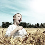 счастливый малыш напольный Стоковое Фото