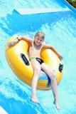 Счастливый мальчик в бассейне Стоковое Изображение RF