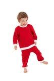 Счастливый мальчик в костюме santa Стоковое Фото